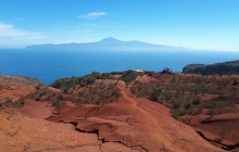The Red Mountain and Agulo